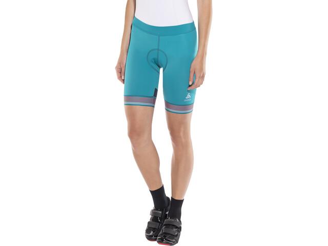 Odlo Fujin Tights Shorts Women crystal teal